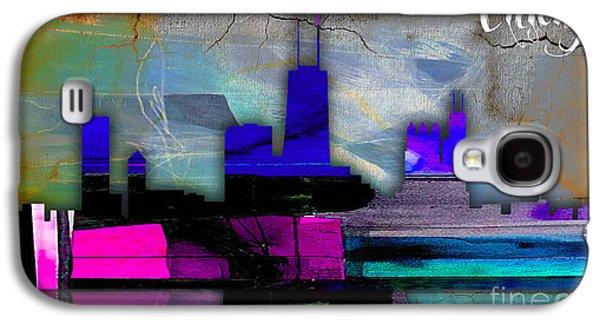 Chicago Skyline Watercolor Galaxy S4 Case