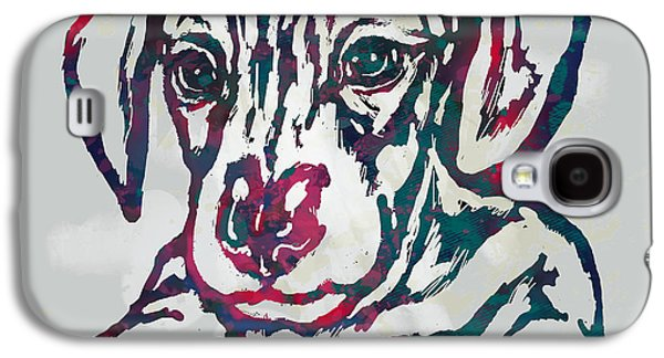 Dog Stylised Pop Modern Etching Art Portrait Galaxy S4 Case by Kim Wang