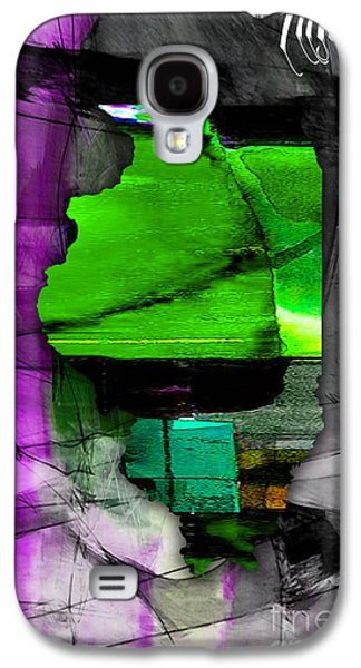 Illinois Map Watercolor Galaxy S4 Case by Marvin Blaine