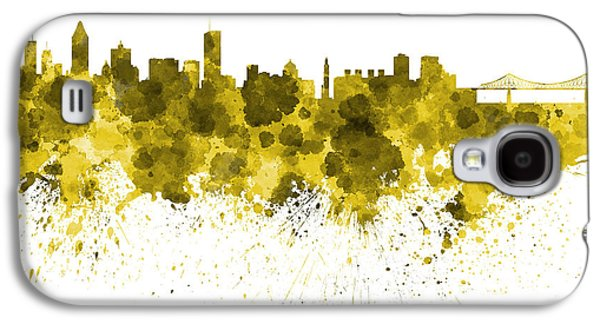 Montreal Skyline In Watercolor On White Background Galaxy S4 Case by Pablo Romero