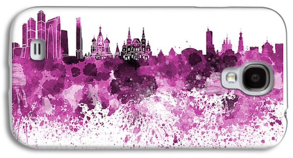 Moscow Skyline White Background Galaxy S4 Case