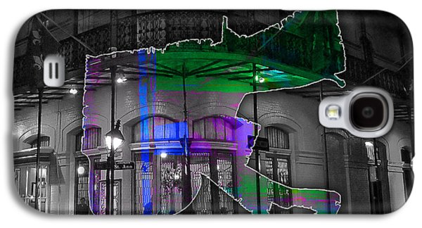 New Orleans Map Watercolor Galaxy S4 Case by Marvin Blaine