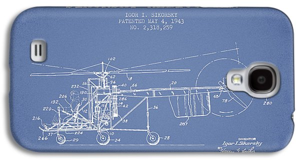 Sikorsky Helicopter Patent Drawing From 1943 Galaxy S4 Case by Aged Pixel