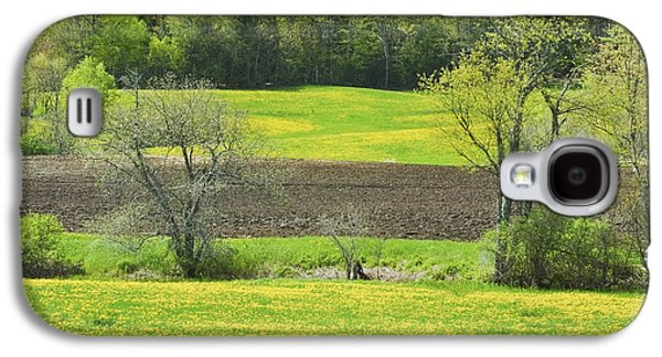 Spring Farm Landscape With Dandelion Bloom In Maine Galaxy S4 Case by Keith Webber Jr