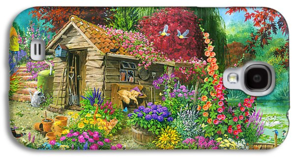 The Garden Shed Variant 1 Galaxy S4 Case by John Francis