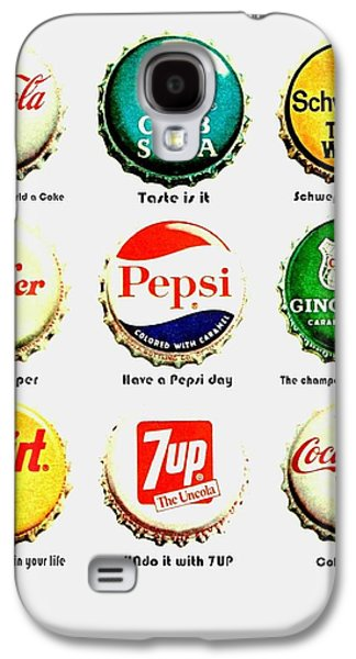 70s Soft Drink Slogans Galaxy S4 Case by Benjamin Yeager
