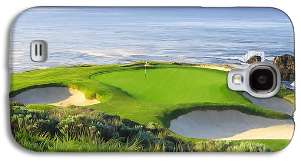 7th Hole At Pebble Beach Galaxy S4 Case
