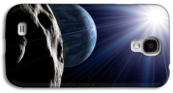 Asteroid Approaching Earth Galaxy S4 Case by Detlev Van Ravenswaay