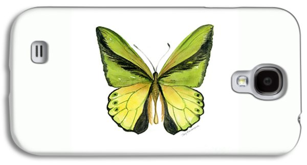 8 Goliath Birdwing Butterfly Galaxy S4 Case by Amy Kirkpatrick