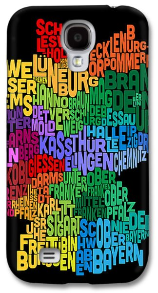 Text Map Of Germany Map Galaxy S4 Case by Michael Tompsett