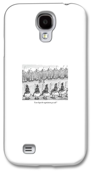 Ostrich Galaxy S4 Case - I Sure Hope The Negotiations Go Well by Jason Patterson