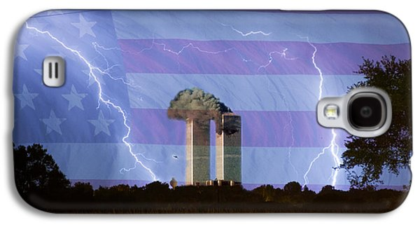 9-11 We Will Never Forget 2011 Poster Galaxy S4 Case