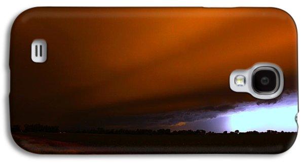 Nebraskasc Galaxy S4 Case - Late Night Nebraska Shelf Cloud by NebraskaSC