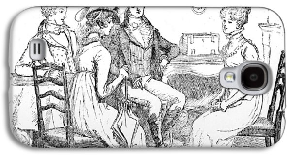 Scene From Pride And Prejudice By Jane Austen Galaxy S4 Case by Hugh Thomson