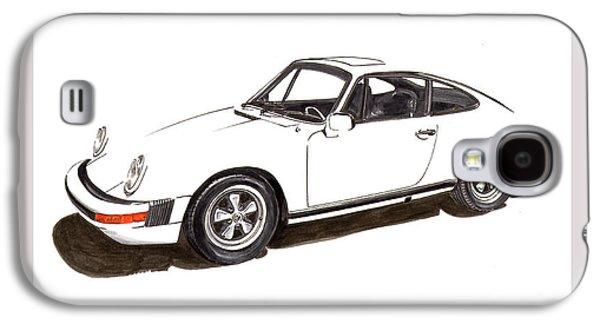 911 White On White 1978 Porsche Galaxy S4 Case by Jack Pumphrey