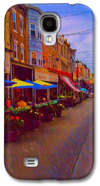 9th Street Italian Market Philadelphia Rendering Galaxy S4 Case by Bill Cannon