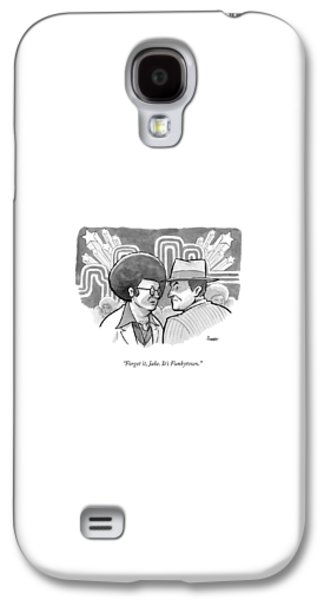 Jack Nicholson Galaxy S4 Case - A 70's Disco Man Speaks To Jack Nicholson's by Benjamin Schwartz