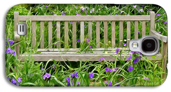A Bench For The Flowers Galaxy S4 Case