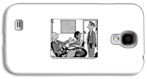 A Boss Addresses One Of His Employees Galaxy S4 Case by William Haefeli