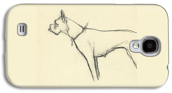 A Boxer Dog Galaxy S4 Case by Carl Oscar August Erickson