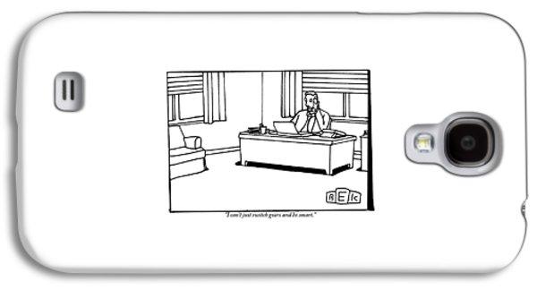 A Businessman At His Desk Galaxy S4 Case