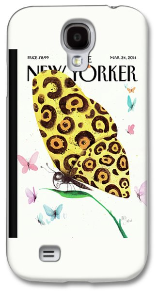 A Butterfly With A Cheetah Pattern Rests Galaxy S4 Case