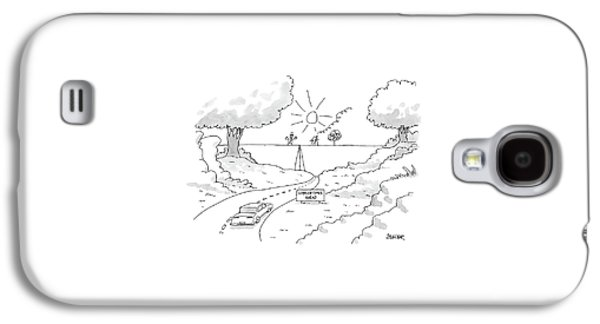 A Car On A Winding Road Heads For A Straight Road Galaxy S4 Case