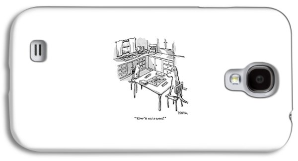 A Cat And Dog Play Scramble In A Kitchen. 'grrr' Galaxy S4 Case
