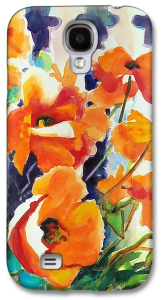 Abstract Movement Galaxy S4 Case - A Choir Of Poppies by Kathy Braud