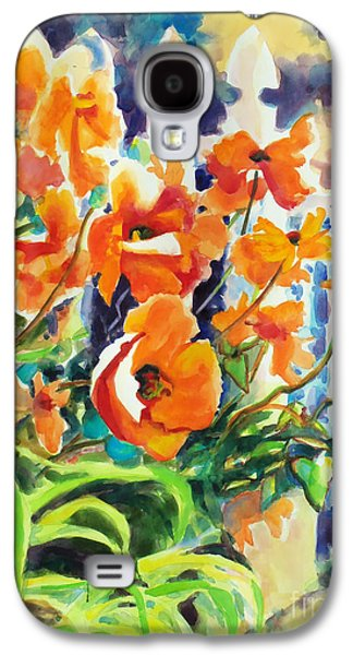 A Choir Of Poppies Galaxy S4 Case by Kathy Braud