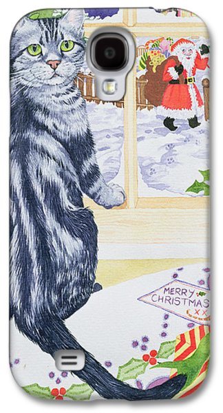 A Christmas Visitor For Toby Galaxy S4 Case by Suzanne Bailey