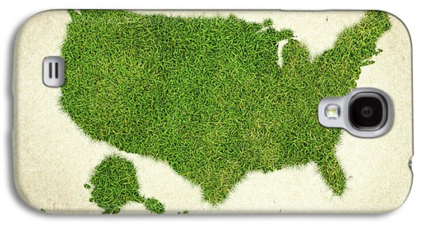 United State Grass Map Galaxy S4 Case by Aged Pixel