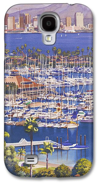 Skyline Galaxy S4 Case - A Clear Day In San Diego by Mary Helmreich