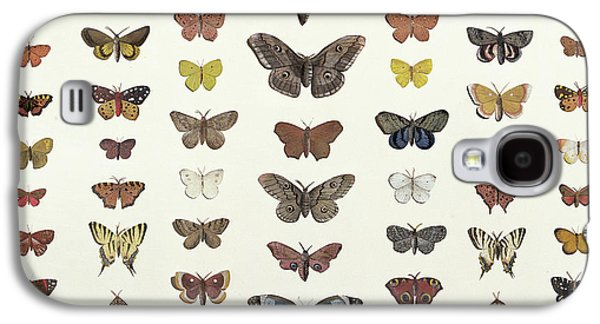 A Collage Of Butterflies And Moths Galaxy S4 Case by French School