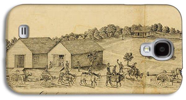 A Confederate Bull Battery Previous To The Battle Of Bull Run Galaxy S4 Case by Celestial Images