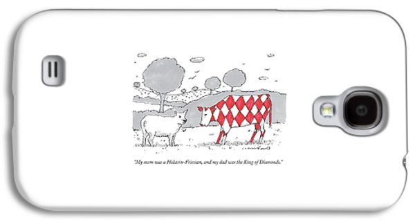 A Cow With A Red Diamond Spots Talks To Another Galaxy S4 Case