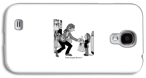 A Daughter Is Seen Speaking With Her Mother Who Galaxy S4 Case by William Haefeli