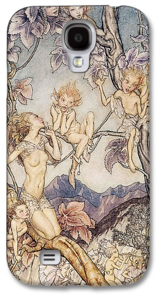 A Fairy Song From A Midsummer Nights Dream Galaxy S4 Case by Arthur Rackham