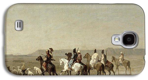 A Falcon Hunt, 1862 Oil On Canvas Galaxy S4 Case