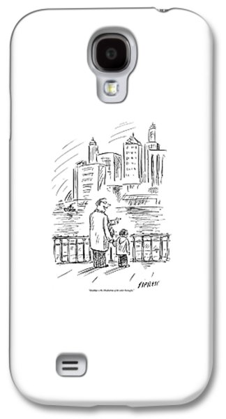 A Father And Son In Brooklyn Look Galaxy S4 Case by David Sipress