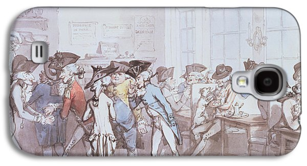 A French Coffee House Galaxy S4 Case by Thomas Rowlandson