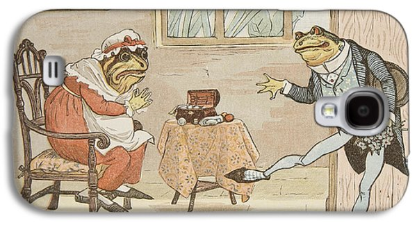 A Frog He Would A Wooing Go Galaxy S4 Case by Randolph Caldecott