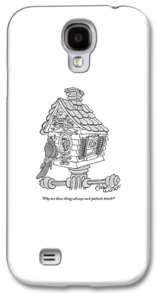 Cuckoo Galaxy S4 Case - A Frustrated-looking Bird Perches Himself by Gahan Wilson