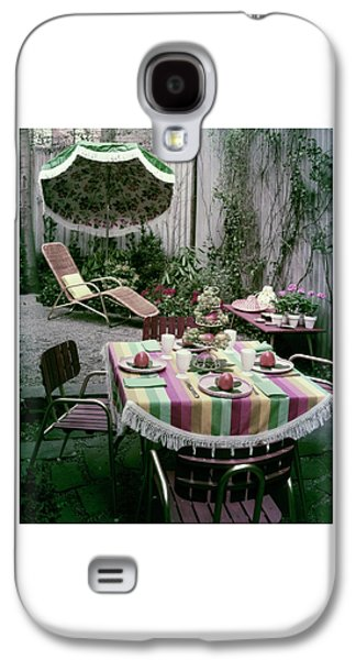 A Garden Set Up For Lunch Galaxy S4 Case