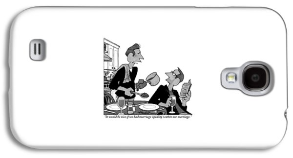 A Gay Man Serves Food To His Partner Who Galaxy S4 Case