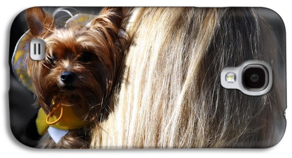 A Girl And Her Dog Galaxy S4 Case by Steven  Digman