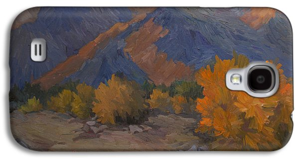 Desert Sunset Galaxy S4 Case - A Golden Sky by Diane McClary