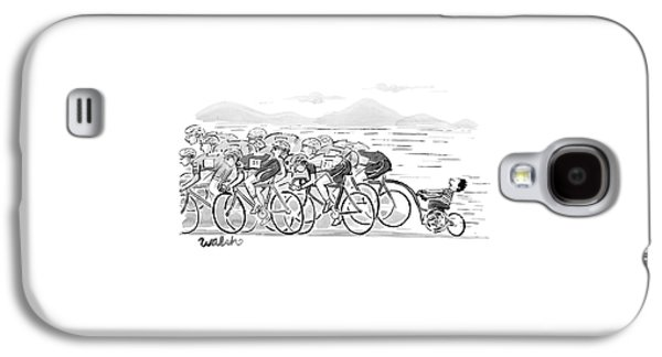 A Group Of Bikers Race Competitively. At The End Galaxy S4 Case