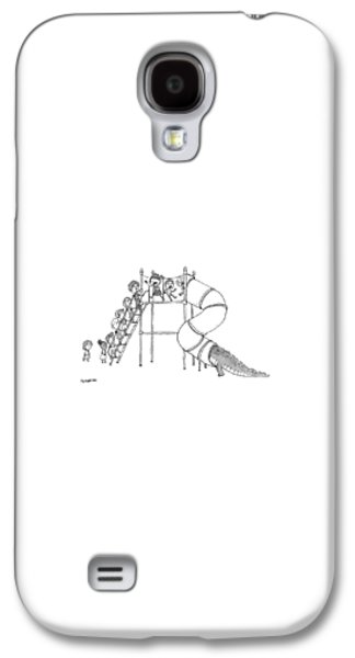 Reptiles Galaxy S4 Case - A Group Of Children Are Lined Up To Go by Jason Patterson