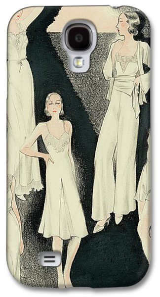 A Group Of Women Wearing White Designer Dresses Galaxy S4 Case by Alix Zeilinger